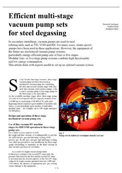 SGI Prozesstechnik // Efficient multi-stage vacuum pump sets for steel degassingg